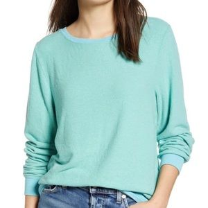 Wildfox Baggy Beach Jumper Sweater Glacier Large